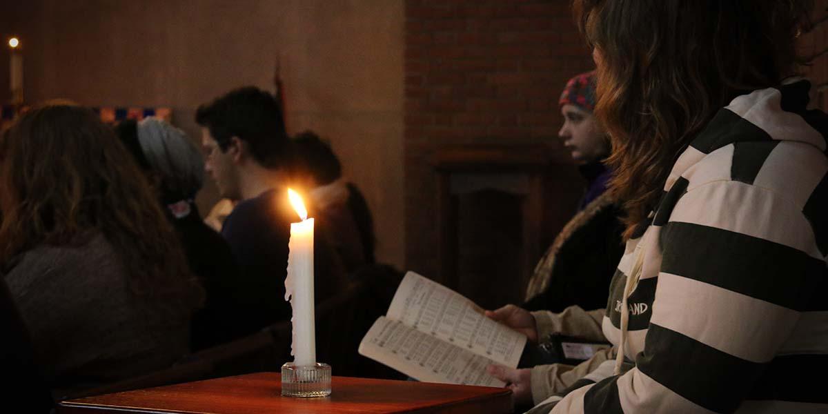 Wesley students worshiping