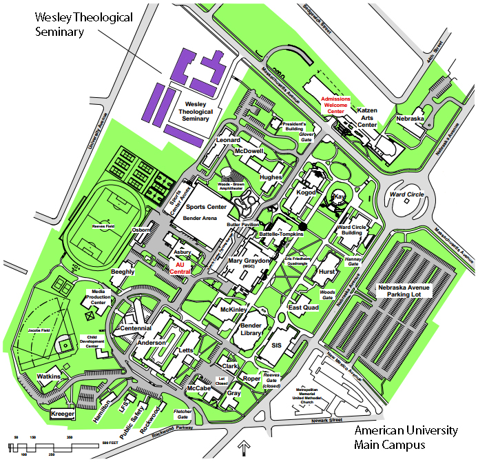 map of american university campus Local Graduate Student Housing Wesley Theological Seminary map of american university campus