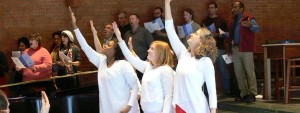 Worshiping through dance at Wesley