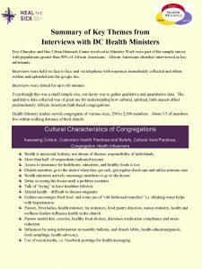 Congregational interviews.pic